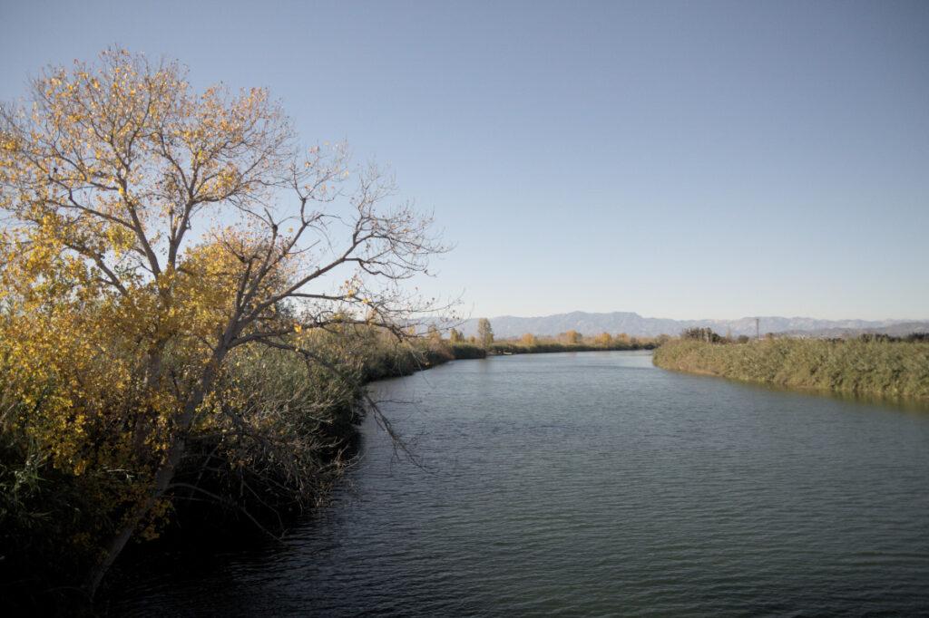 El Riu Ebre, abans del seu pas per Sant Jaume d'Enveja. Delta de l'Ebre. Montsià